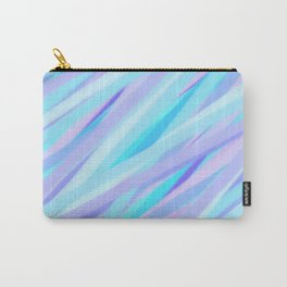 Pastel Pink, Purple, and Light Blue Stripes Carry-All Pouch