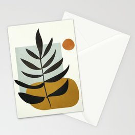 Soft Abstract Large Leaf Stationery Cards