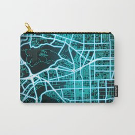 Pomona, CA, USA, Blue, White, Neon, Glow, City, Map Carry-All Pouch