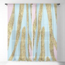 Golden exotics - bright pastels Sheer Curtain