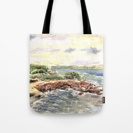 cape red beach Tote Bag