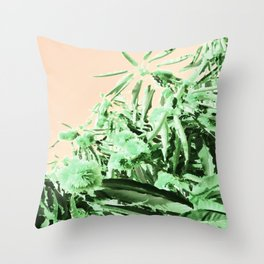 Green chestnut tree impressions Throw Pillow