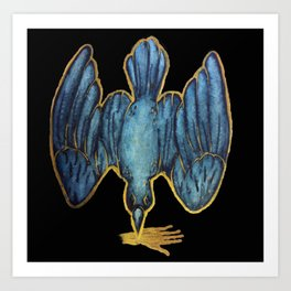 Golden wing. Golden skins. Art Print