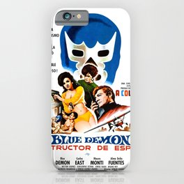Blue Demon destructor de espias, 1968 (Vintage Movie Poster) iPhone Case
