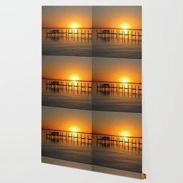 Clear Lake, Iowa Sunset Wallpaper