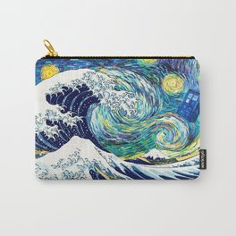 Starry Night Tardis Flying Carry-All Pouch