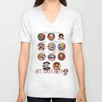 hetalia V-neck T-shirts featuring Art School Party by invisibleinnocence
