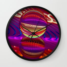 Brilliance in the crystal ball Wall Clock