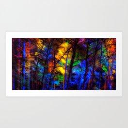 Rainbow Enchanted Forest Art Print