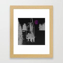Inverted Ski Lift to the Moon Framed Art Print