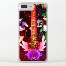 Fusion Sailor Moon Guitar #30 - Sailor Mars & Sailor Pluto Clear iPhone Case