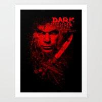 dexter Art Prints featuring Dexter by fajnawizja