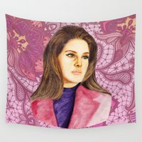lana Wall Tapestries featuring LANA II by Share_Shop