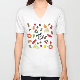Candy Helps Me Cope Unisex V-Neck