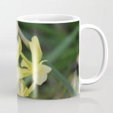 pretty light yellow garden flowers. floral photography. Mug