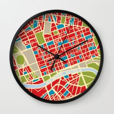 Vintage Style Map of Melbourne Wall Clock