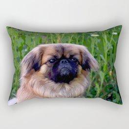 Lion Dog Rectangular Pillow