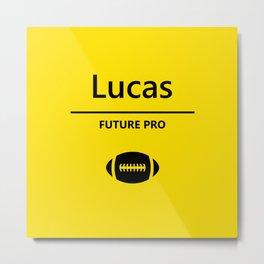 Lucas Football Player Metal Print