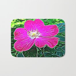 Magenta Flower of Harmony Bath Mat