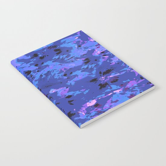 Shabby Chic Blue Floral Abstract Notebook