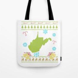 West Virginia Christmas Ugly Shirt Tote Bag