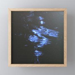 Doodle of light on water Framed Mini Art Print