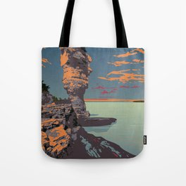 Fathom Five National Park Poster (Flowerpot Island) Tote Bag