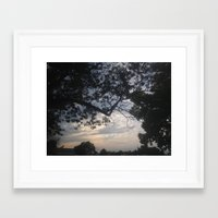 frame Framed Art Prints featuring Frame by StarWolfLove