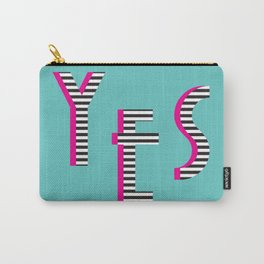 YES Poster | Mint Stripe Pattern Carry-All Pouch