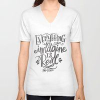 imagine V-neck T-shirts featuring IMAGINE by Matthew Taylor Wilson
