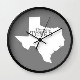 Home is Texas Wall Clock