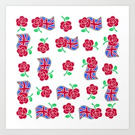 Rose & Union Jack Art Print