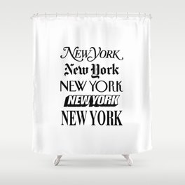 I Heart New York City Black and White New York Poster I Love NYC Design black-white home wall decor Shower Curtain