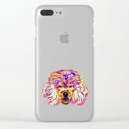 Funny Poodle Art Splash design Gift Artistic Poodle graphic Clear iPhone Case