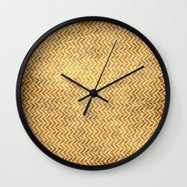 Textured ice coffee chevrons Wall Clock