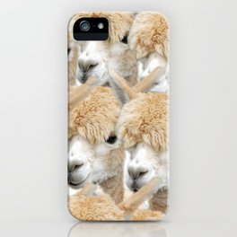 Alpaca Herd iPhone Case