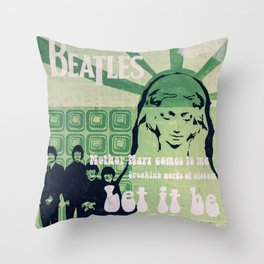 Let It Be (Painted Version) Throw Pillow