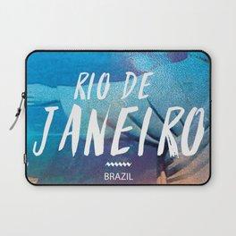 Corcovado, Rio de Janeiro, Brazil, poster Laptop Sleeve