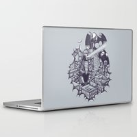 kaiju Laptop & iPad Skins featuring Lucha Kaiju by Jonah Makes Artstuff