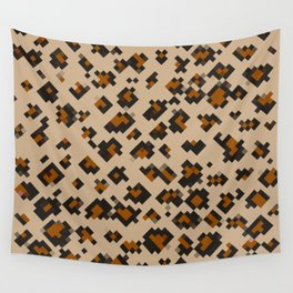 Pixelated Leopard Wall Tapestry
