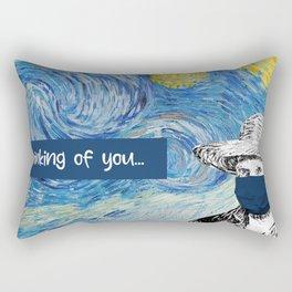 Van Gogh Face Mask - Thinking of You Rectangular Pillow