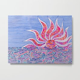 Hectic Sunset Metal Print