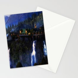 Dream in Mountain of waterfalls Stationery Cards