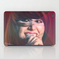 karen iPad Cases featuring Karen O by Camila Fernandez