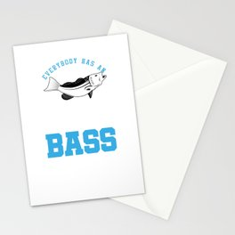 Addiction For bass Fishing Stationery Cards