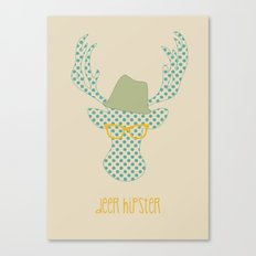 Deer Hipster Canvas Print