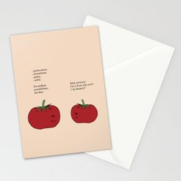 Tomato Desserts Stationery Cards