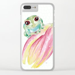 Cute Froggy Clear iPhone Case