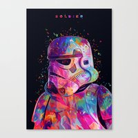 soldier Canvas Prints featuring Soldier by Alessandro Pautasso