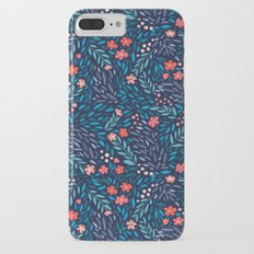 Teeny Tiny Floral Blue Slim Case iPhone 7 Plus